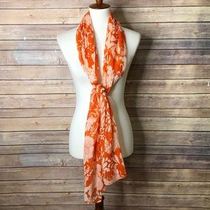 Avneue Ribbed Sheer Floral scarf 74 x 16